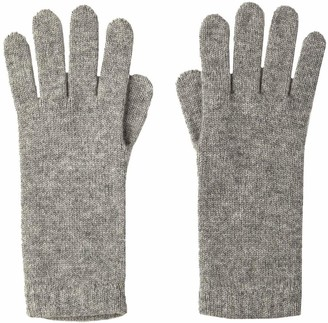 Johnstons of Elgin Womens Short Cuff Cashmere Gloves - Silver