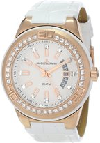 Jacques Lemans Women's 1-1776F Miami Sport Analog Swarovski Crystals Watch
