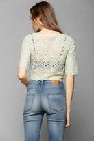 Urban Outfitters Tela Lace Cropped Tee