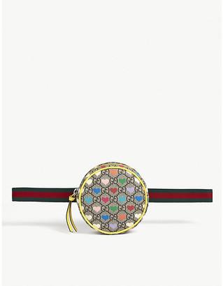 Gucci Kids GG Supreme heart-print canvas belt bag