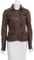 Max & Co. MAX&Co. Leather Knit-Trimmed Jacket