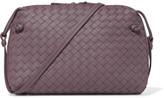 Bottega Veneta Nodini Small Intrecciato Leather Shoulder Bag - Purple