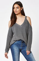 La Hearts Chunky Cold Shoulder Pullover Sweater