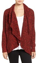Chaus Cable Stitch Drape Front Cardigan