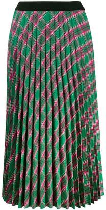 Moncler plaid pleated skirt