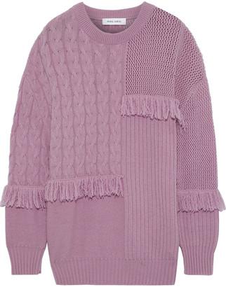 Prabal Gurung Fringed Cashmere Sweater