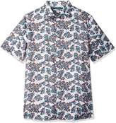 Perry Ellis Men's Big and Tall Floating Floral Shirt