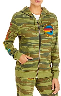 Aviator Nation Graphic Zippered Hoodie