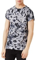 Topman Men's Ruthless Graphic Tie Dye T-Shirt