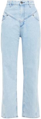 Sandro Cropped High-rise Slim-leg Jeans