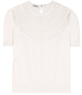Miu Miu Wool Pointelle Top