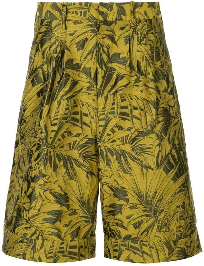 Cerruti tropical-print bermuda shorts