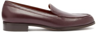 Emme Parsons Danielle Smooth-leather Loafers - Burgundy