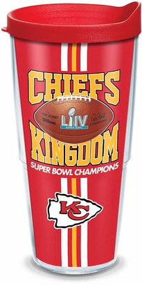 Tervis 1360869 NFL Kansas City Chiefs Post Win Super Bowl 54 Insulated Tumbler with Wrap and Red Lid 24oz