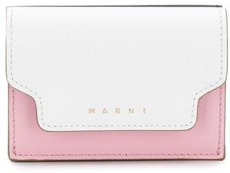 Marni Colour Block Logo Print Tri-Fold Wallet