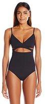 Vince Camuto Women's Polish Wrap One-Piece Swimsuit