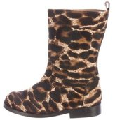 Lanvin Girls' Ponyhair Round-Toe Boots w/ Tags