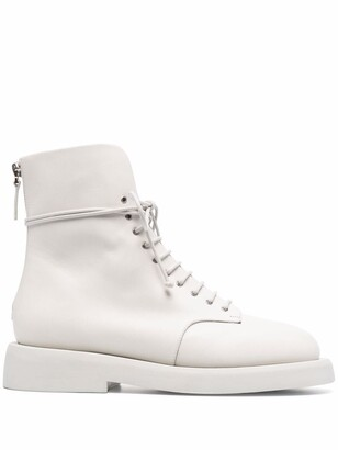Marsèll Lace-Up Leather Ankle Boots