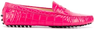 Tod's Gommino crocodile-embossed driving loafers