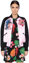 Valentino Embroidered Silk Duchesse Bomber Jacket