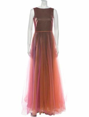 Valentino Bateau Neckline Long Dress w/ Tags Orange