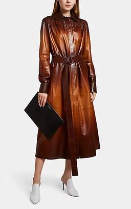 Givenchy Women's Dégradé Leather Belted Coat - Lt. brown