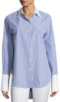 Rag & Bone Essex Striped Shirt with Contrast Trim