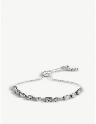 Carat London Madison white gold-plated sterling silver bracelet