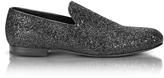 Jimmy Choo Sloane Black Glitter Loafer