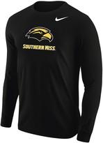Nike Men's Black Southern Miss Golden Eagles Big Logo Performance Long Sleeve T-Shirt