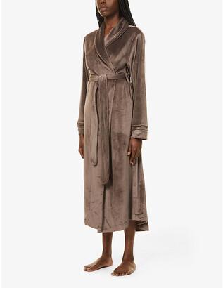 SKIMS Velour belted stretch-velour robe