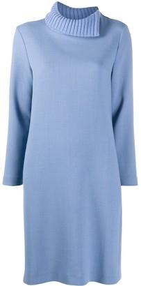 Split-Collar Shift Dress