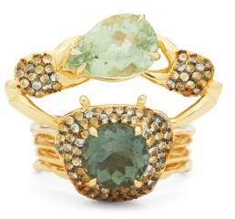 Daniela Villegas Belisama Sapphire, Peridot & Tourmaline Ring - Green Multi