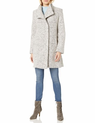 Kenneth Cole New York Kenneth Cole Women's Asymmetrical Pressed Boucle Wool Coat