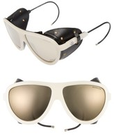 Moncler Women's 57Mm Mirrored Shield Sunglasses - Black/ Gold/ Brown Mirror