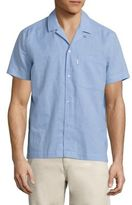 Wesc Nevin Seersucker Relaxed Woven Button-Down Shirt