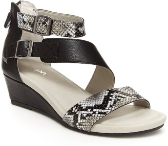 Jambu Asymmetrical Wedge Sandals - Capri