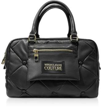 Versace Quilted Nappa Satchel Bag