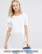 Asos T-Shirt with Ruffle Sleeves