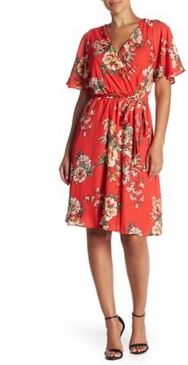 Como Vintage Midi Soft Wrap Dress