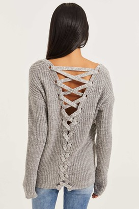 Ardene Braided Back Sweater