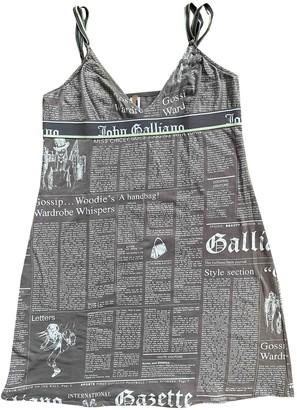 John Galliano Brown Cotton Dress for Women