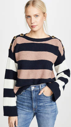 Madewell Dana Boatneck Stripe Mix Sweater