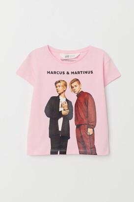 H&M T-shirt with Motif - Pink