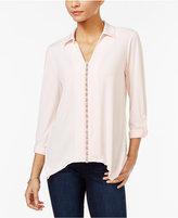 NY Collection Petite Embellished Shirt