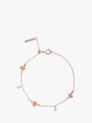 Olivia Burton Freshwater Pearl Bee Chain Bracelet