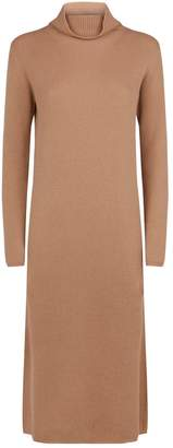 Max Mara Ribbed High-Neck Knit Dress