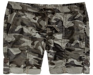 Imperial Star Big Girls Camouflage Utility Shorts
