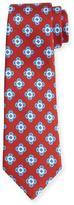 Kiton Neat Spaced Flower Silk Tie, Rust