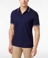 Club Room Men's Striped-Trim Polo, Only at Macy's